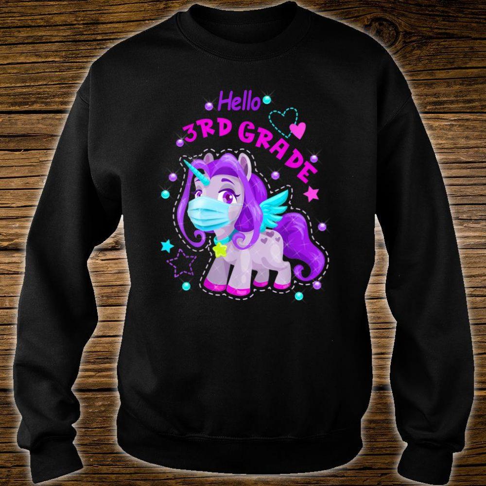 Quarantine Unicorn Hello 3rd Grade 2020 Back To School Shirt sweater