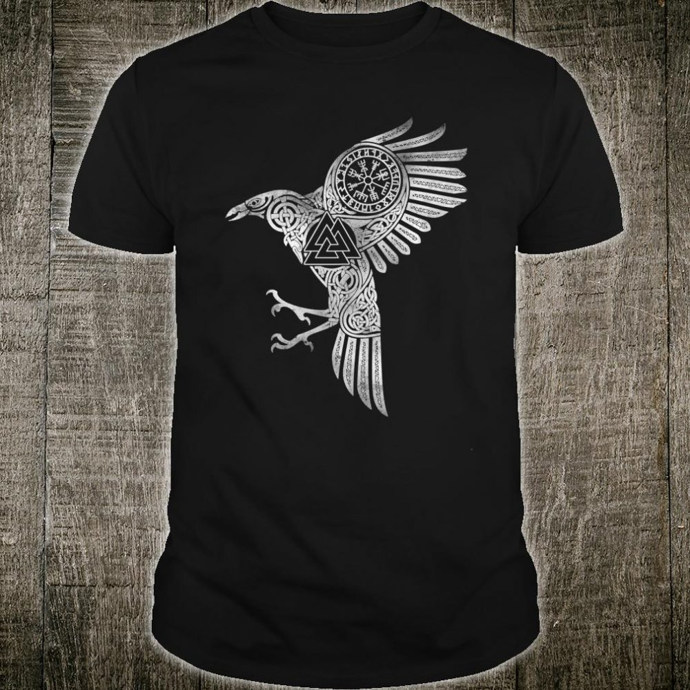 Raven Eyes of Odin Vikings Helmet Celtic Knot Shirt