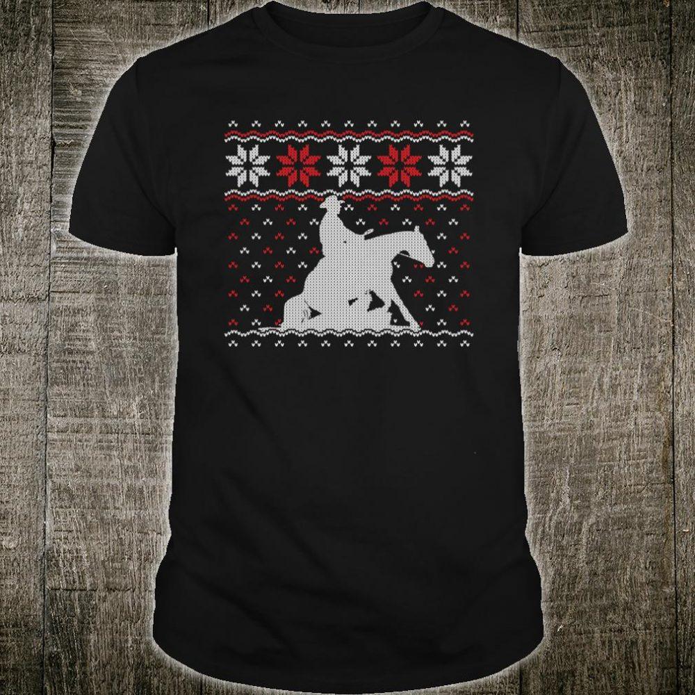 Reining Horse Ugly Christmas Western Equestrian Shirt