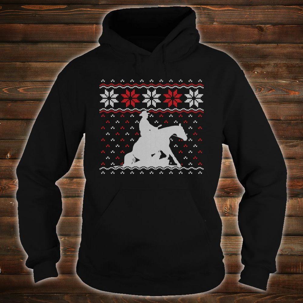 Reining Horse Ugly Christmas Western Equestrian Shirt hoodie