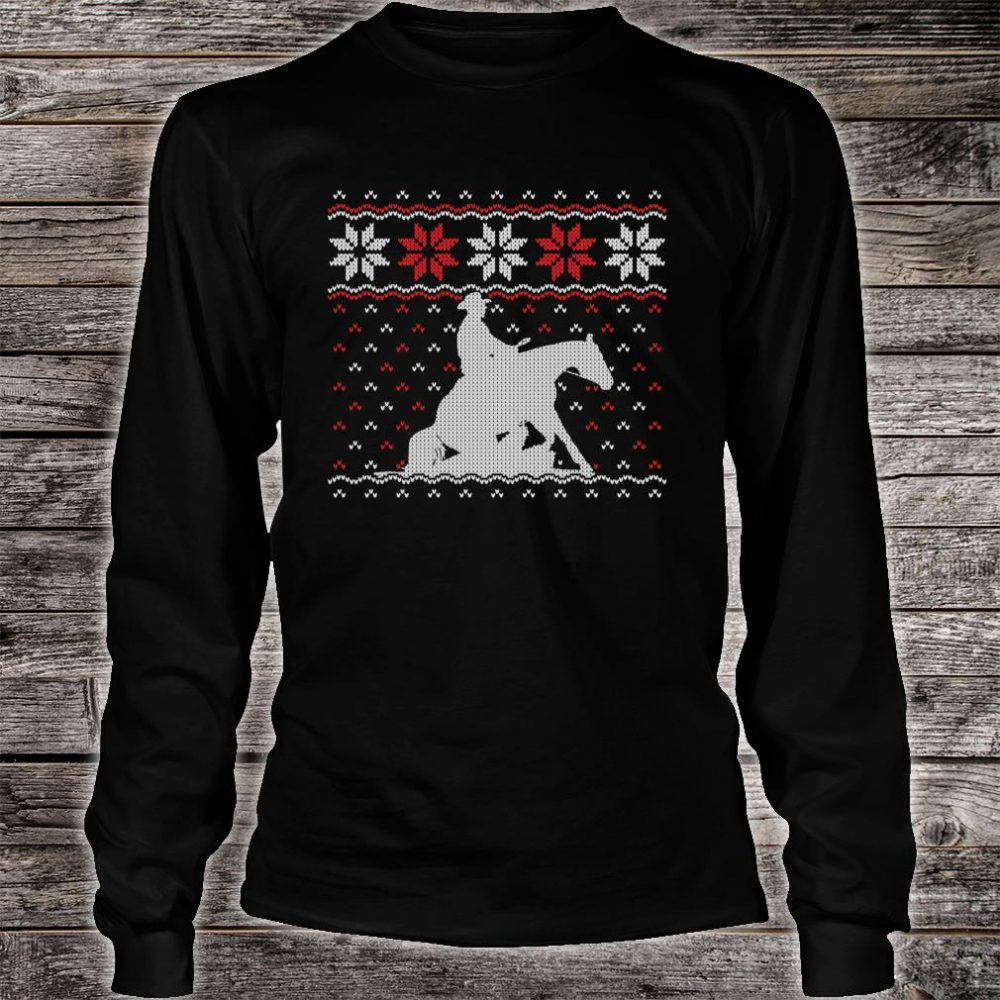 Reining Horse Ugly Christmas Western Equestrian Shirt long sleeved