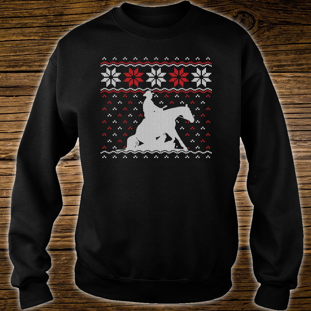 Reining Horse Ugly Christmas Western Equestrian Shirt sweater