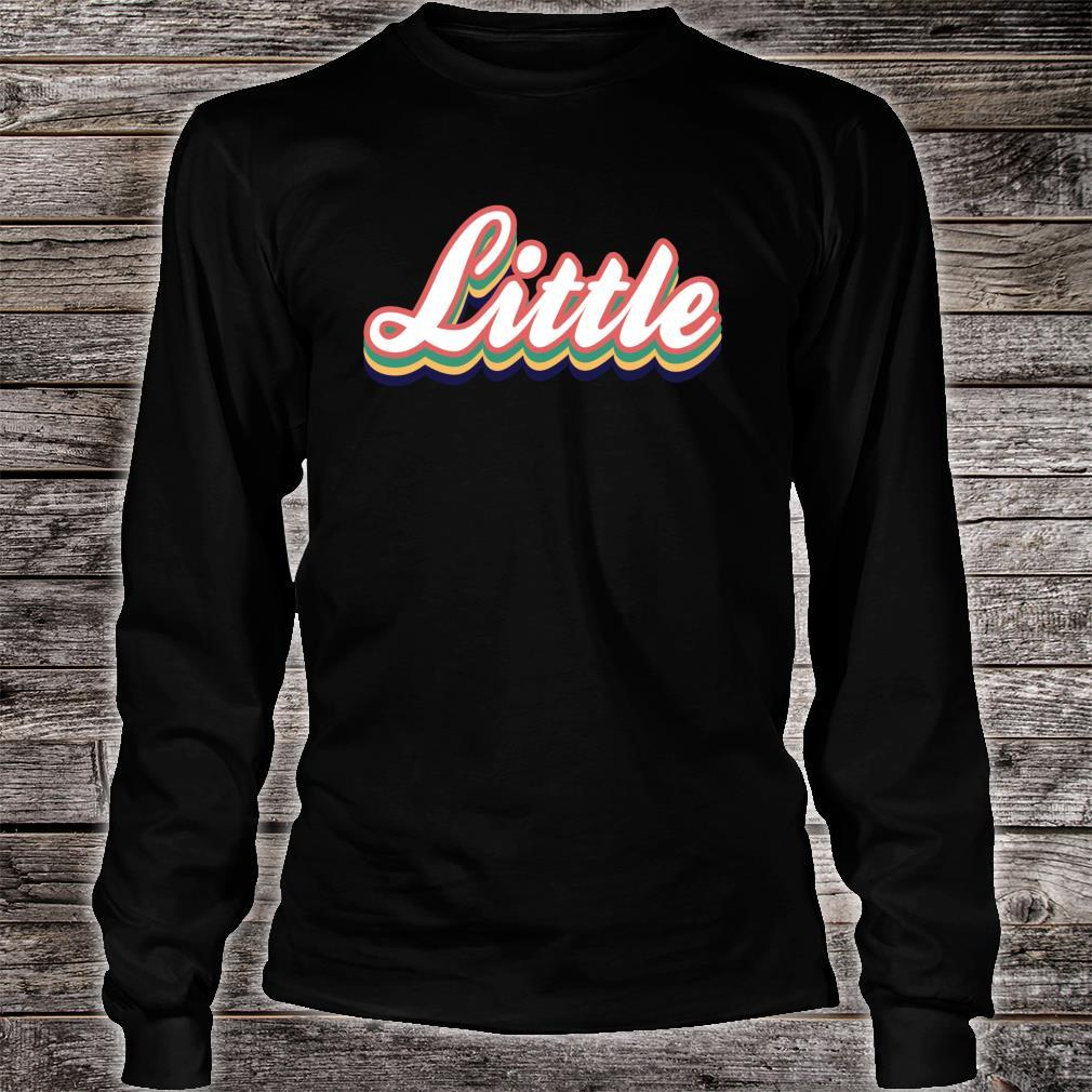 Retro Little Reveal Sorority. Big Little Week. Greek life Shirt long sleeved