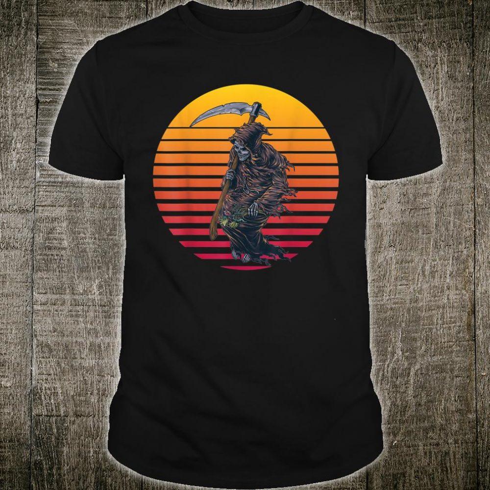 Retro Sunset Grim Reaper Shirt