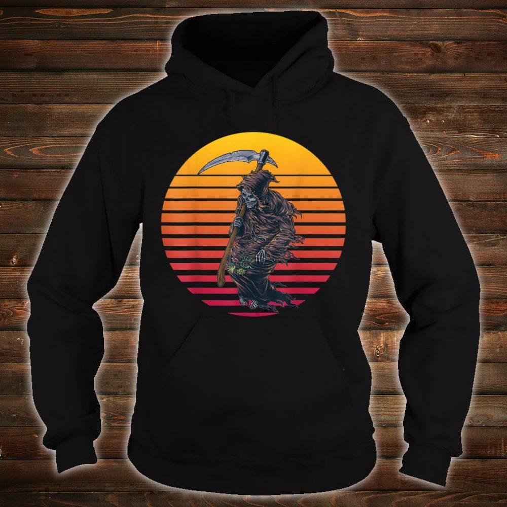 Retro Sunset Grim Reaper Shirt hoodie
