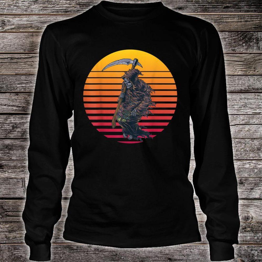 Retro Sunset Grim Reaper Shirt long sleeved
