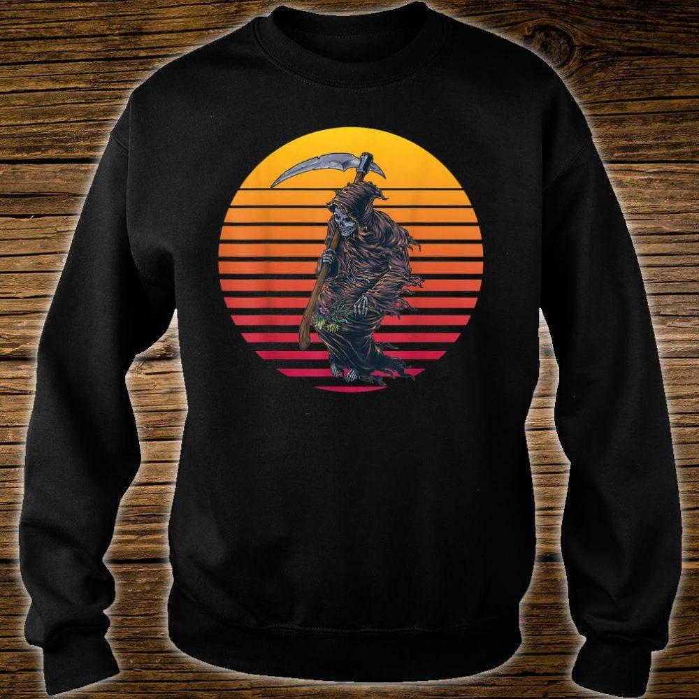 Retro Sunset Grim Reaper Shirt sweater