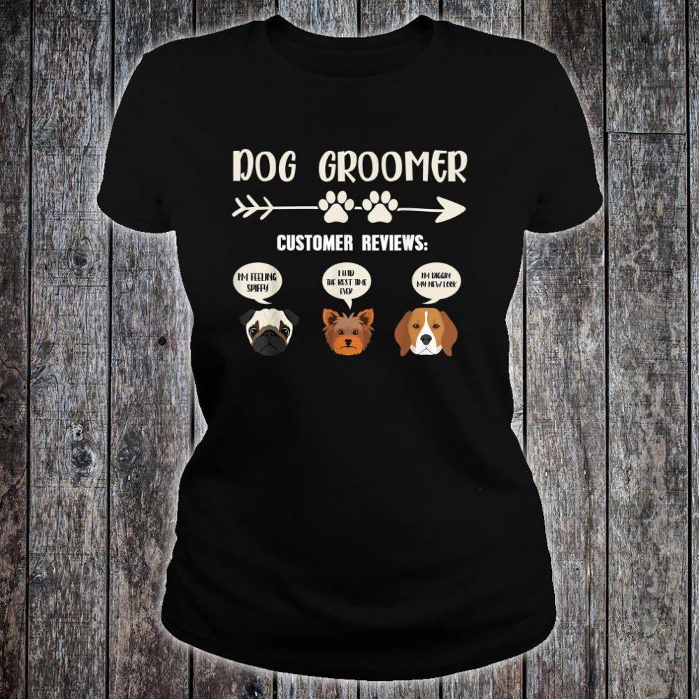 Retro Vintage Dog Groomer Customer Reviews Shirt ladies tee