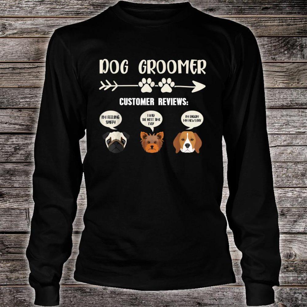 Retro Vintage Dog Groomer Customer Reviews Shirt long sleeved
