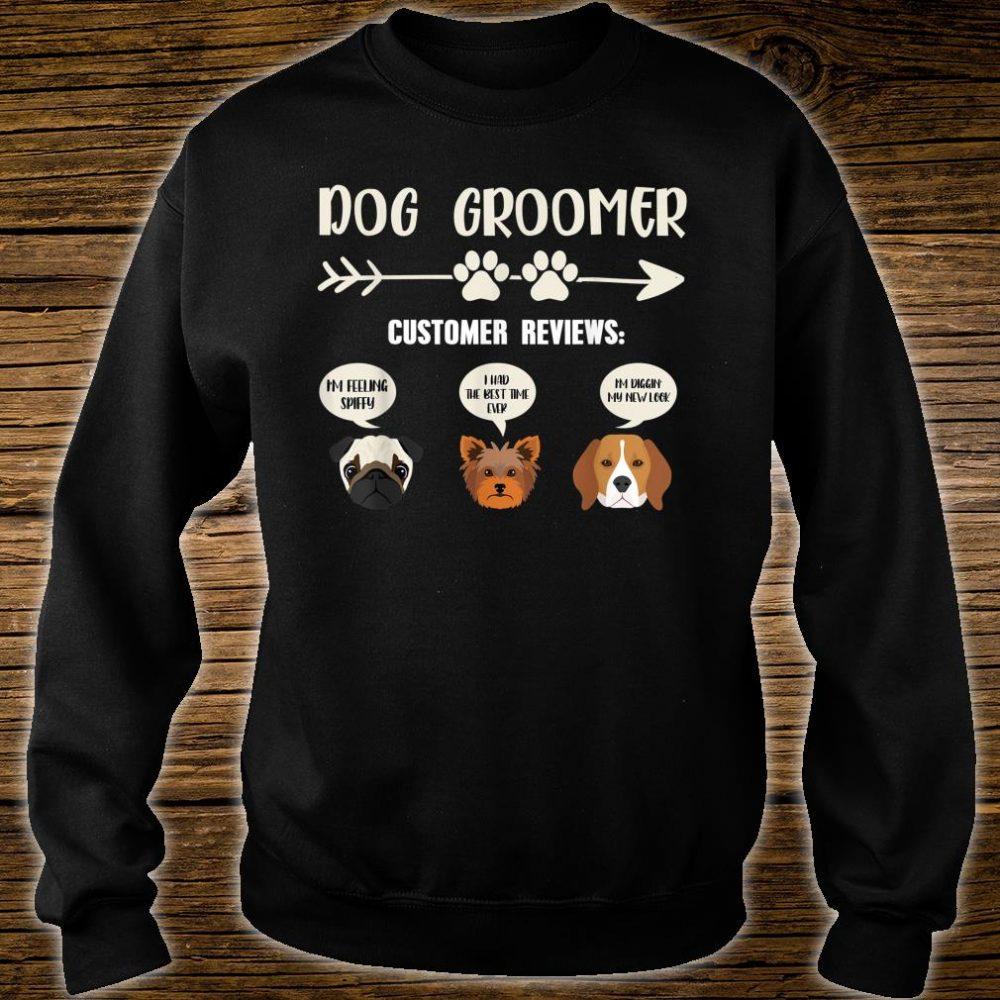 Retro Vintage Dog Groomer Customer Reviews Shirt sweater
