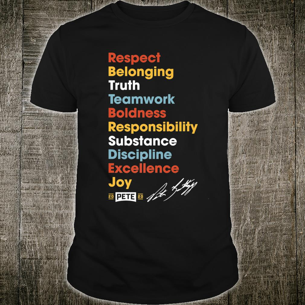Rules Of The Road Team Pete Buttigieg 2020 Shirt