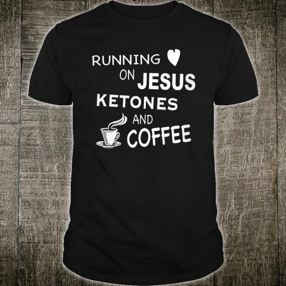 Running on Jesus, Ketones, and Coffee - Sugar Free Mom V-Neck T-Shirt