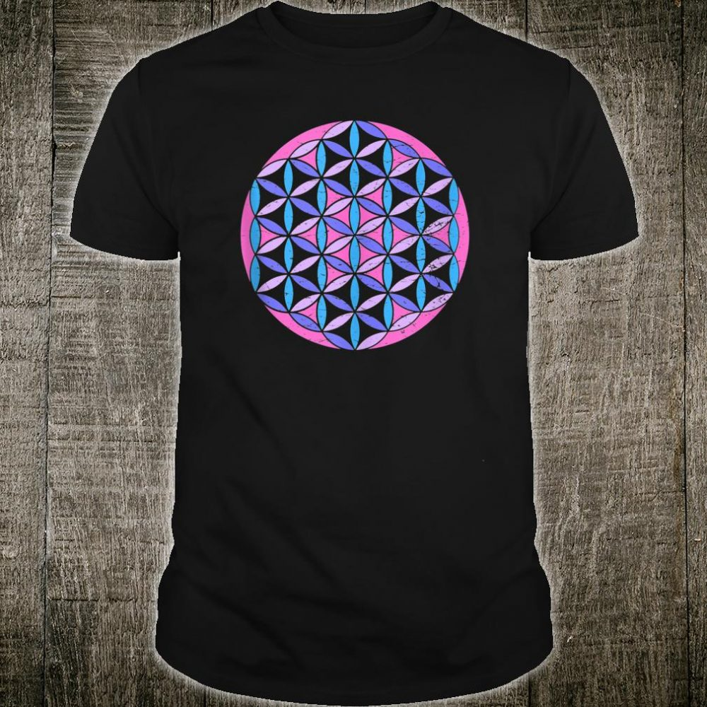Sacred Geometry Flower of Life in a Psychedelic colors Shirt