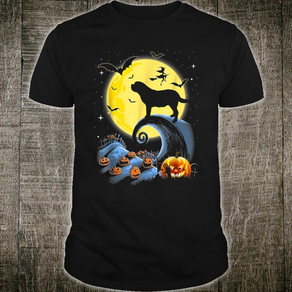 Saint Bernard Dog And Moon Funny Halloween Costume Shirt