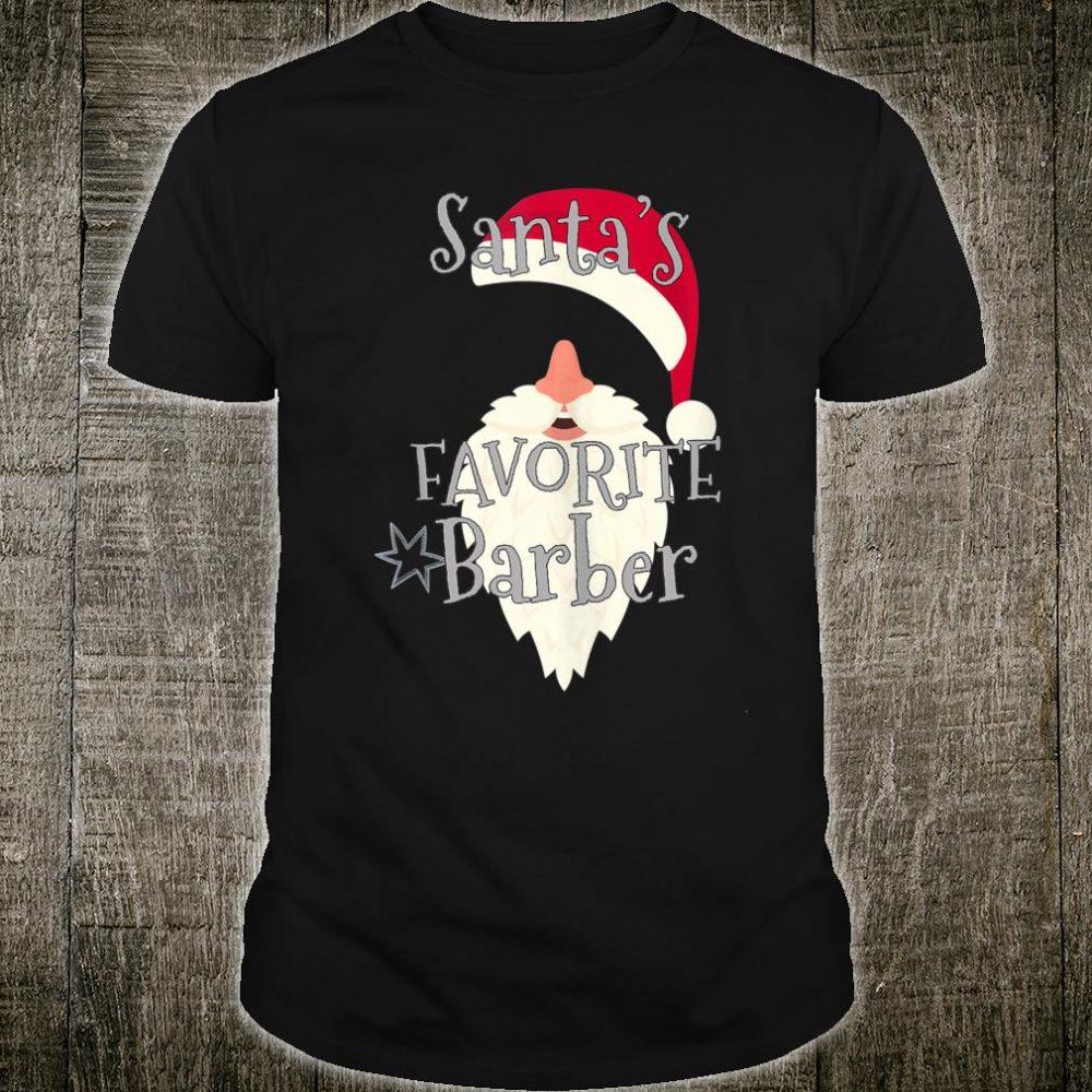 Santas Favorite Barber Shirt