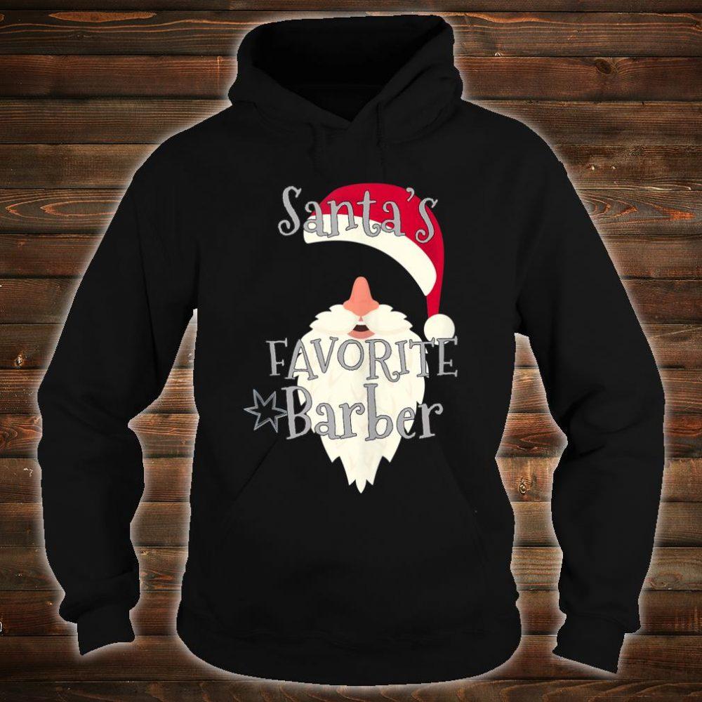 Santas Favorite Barber Shirt hoodie