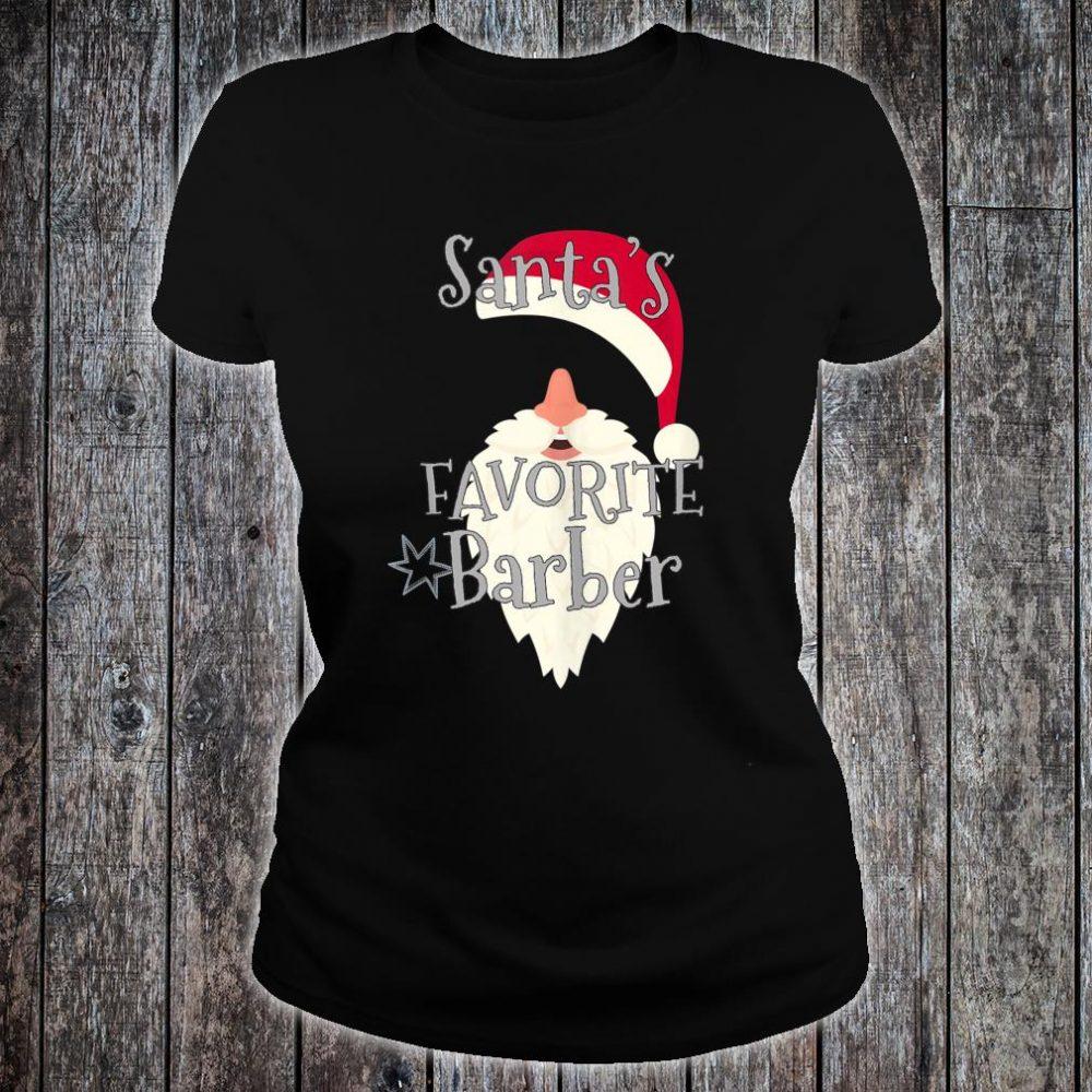 Santas Favorite Barber Shirt ladies tee