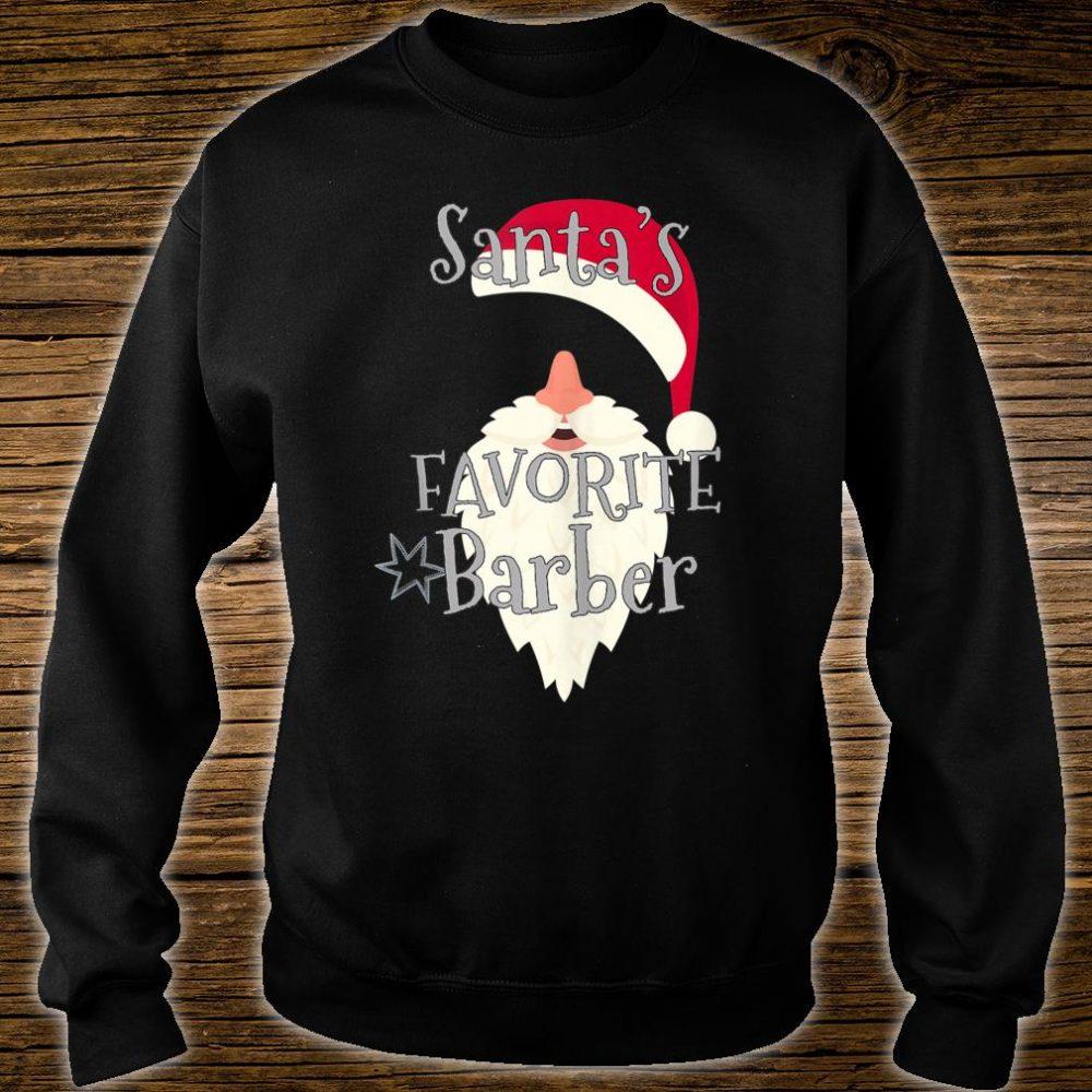 Santas Favorite Barber Shirt sweater