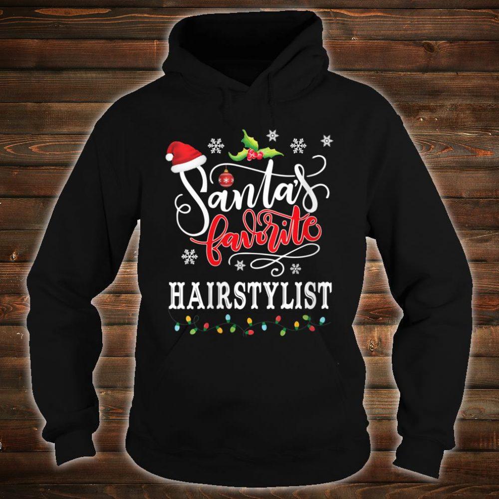 Santa's Favorite Hairstylist Christmas Shirt hoodie