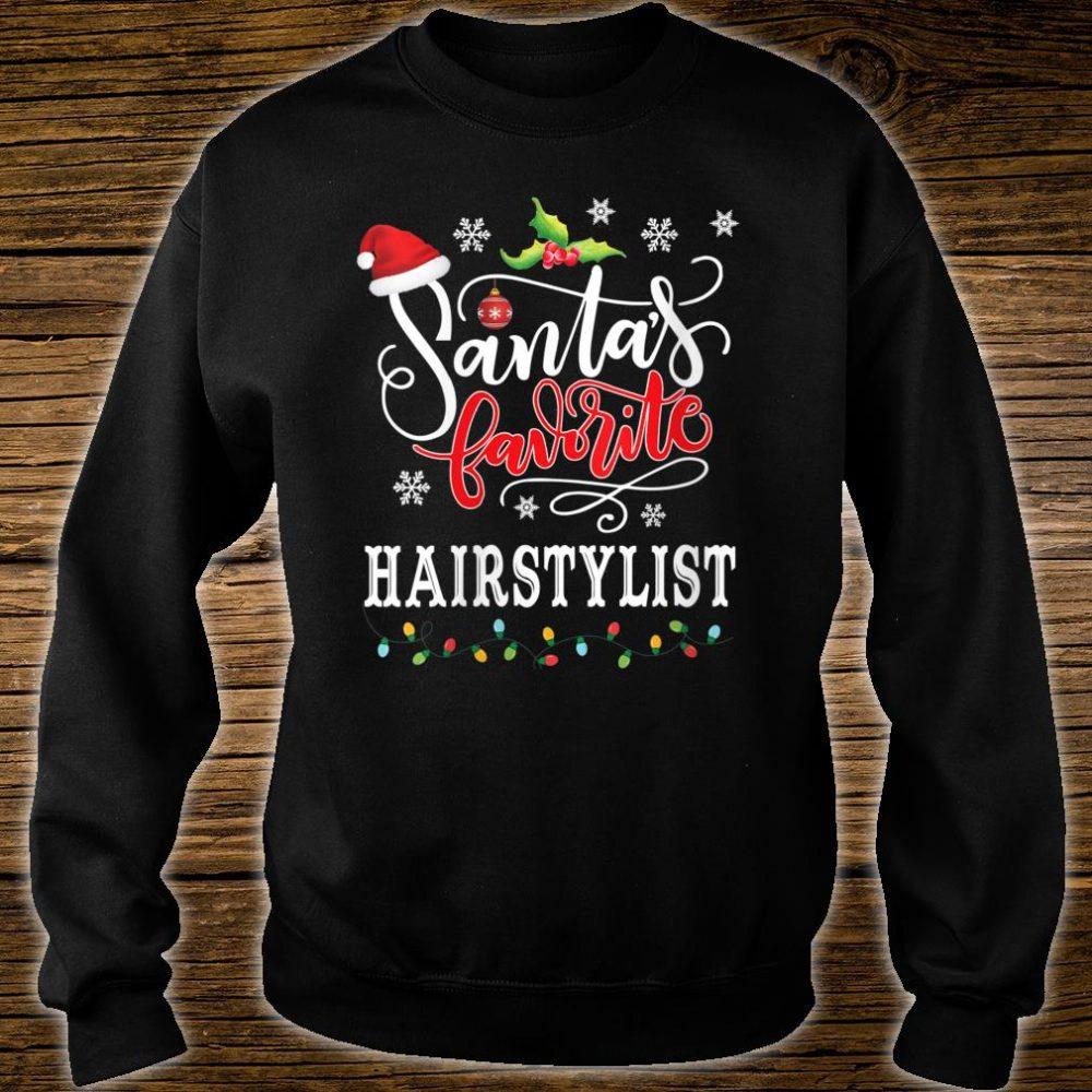 Santa's Favorite Hairstylist Christmas Shirt sweater