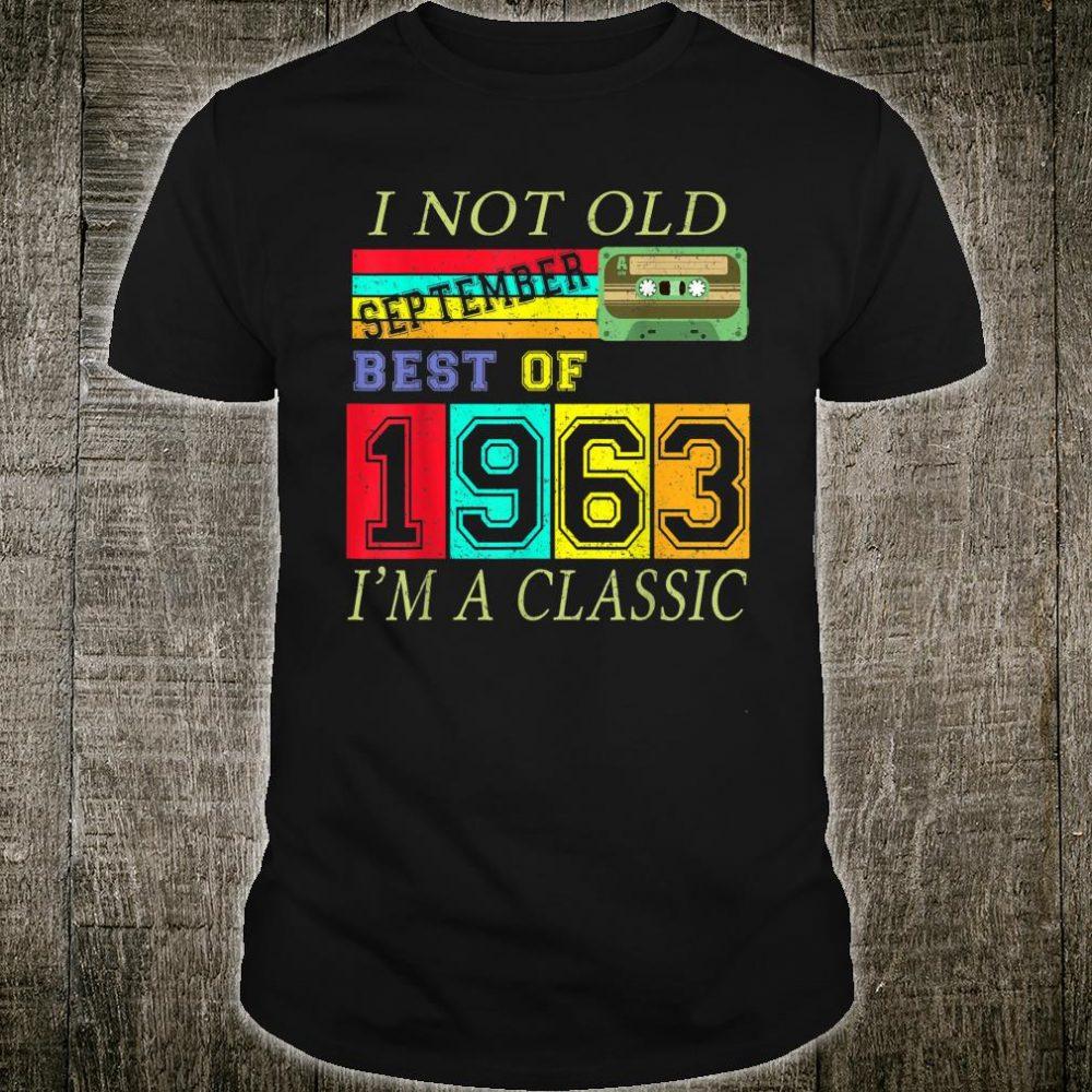September 1963 57th Birthday Cassette Tape Vintage Shirt