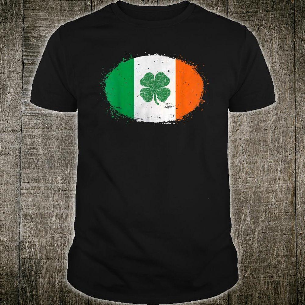 Shamrock Ireland Flag Green St Patricks Day Shirt