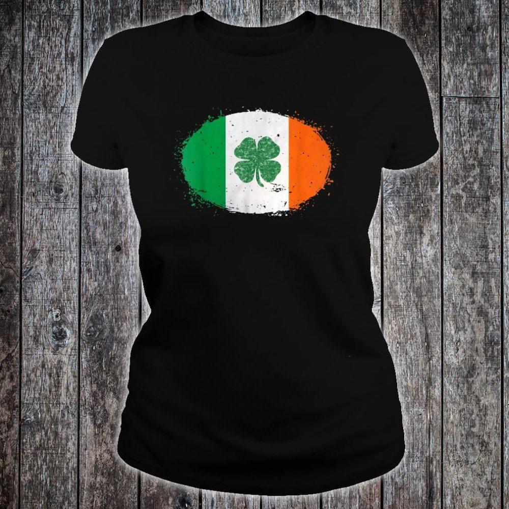 Shamrock Ireland Flag Green St Patricks Day Shirt ladies tee