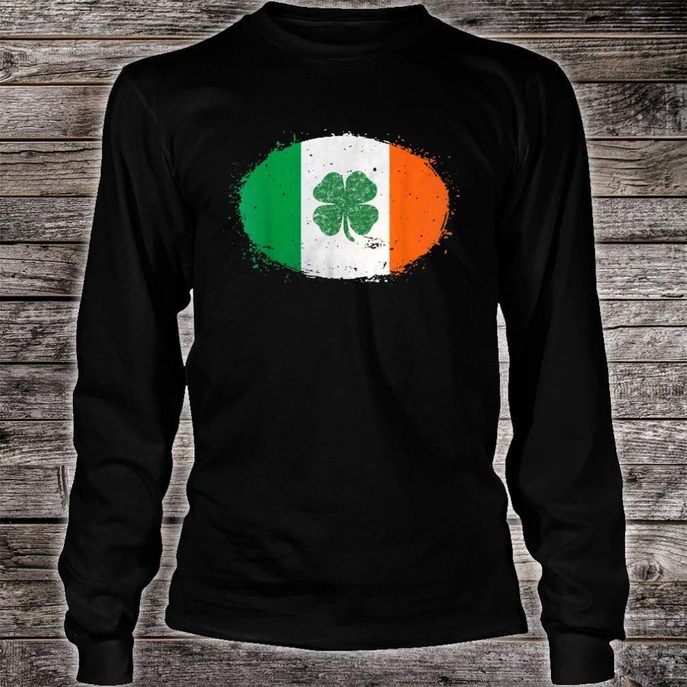 Shamrock Ireland Flag Green St Patricks Day Shirt long sleeved