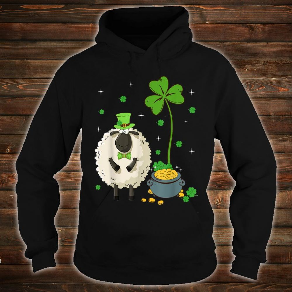 Shamrock Leprechaun Sheep St Patrick's Day Shirt hoodie