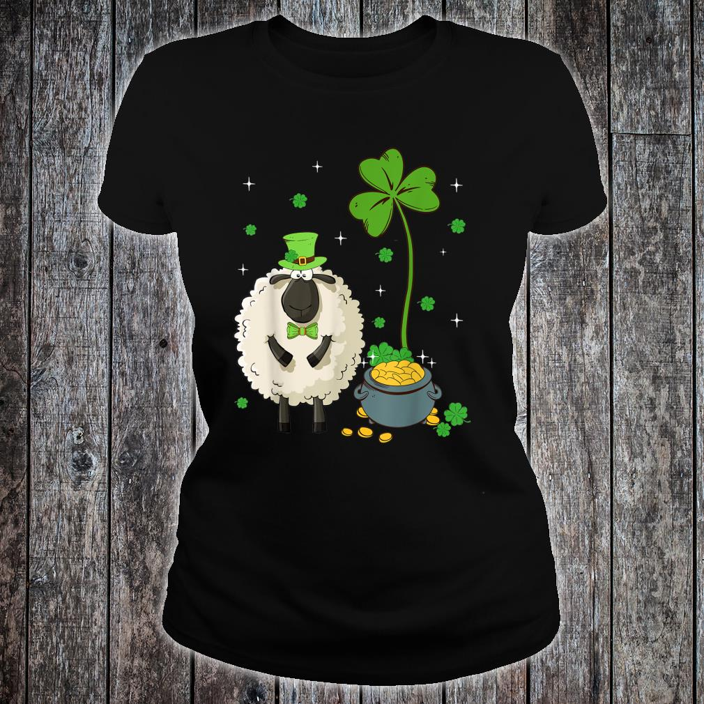 Shamrock Leprechaun Sheep St Patrick's Day Shirt ladies tee