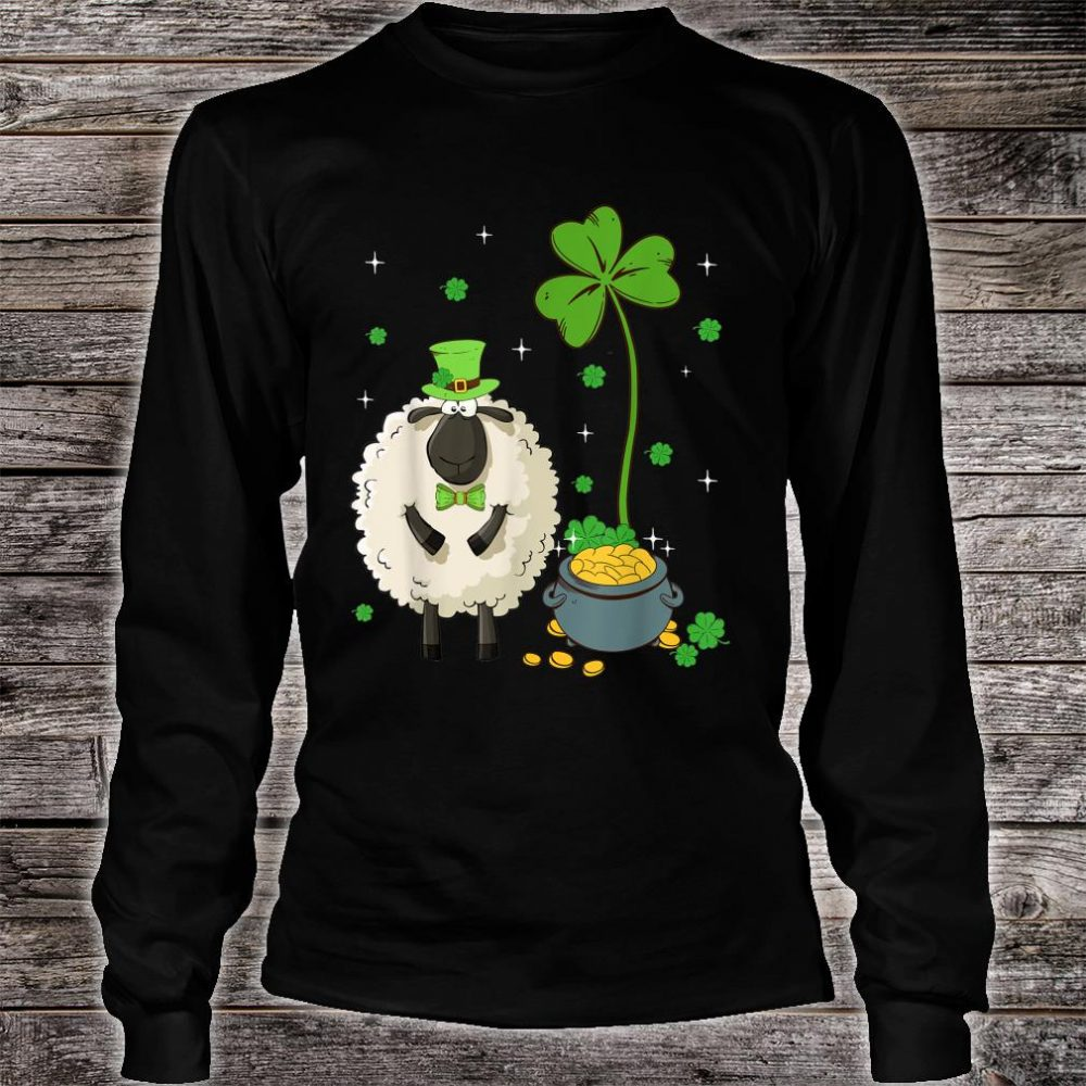 Shamrock Leprechaun Sheep St Patrick's Day Shirt long sleeved