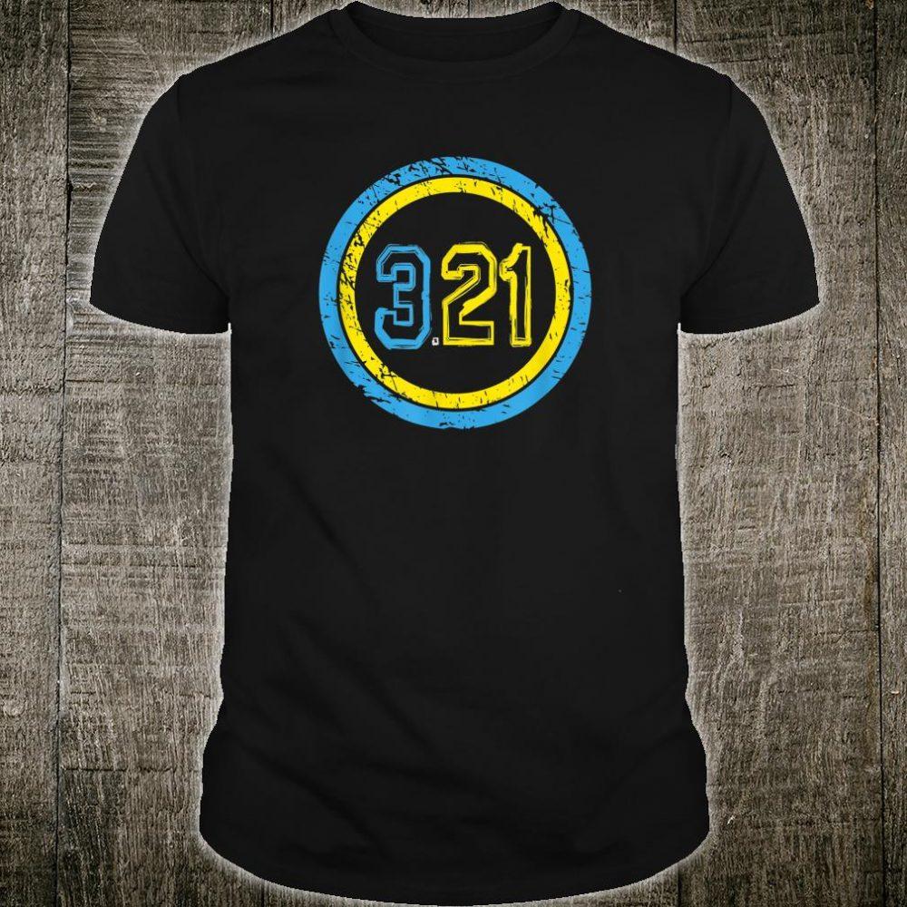Superhero 321 Emblem World Down Syndrome Day Shirt