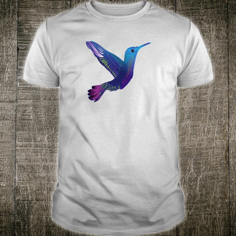 Trippy Rainbow Hummingbird Psychedelic Winged Creature Shirt
