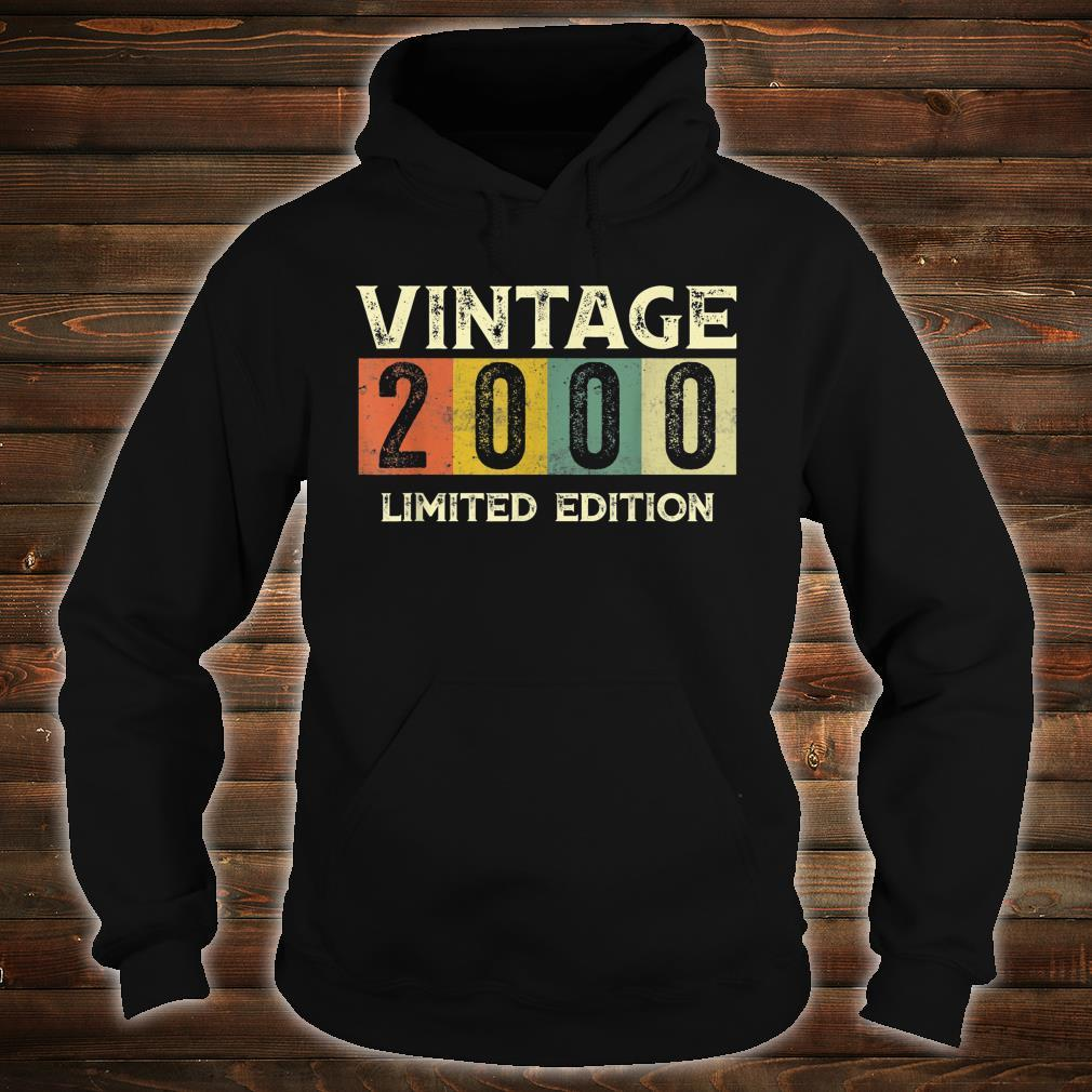 Vintage 2000 Limited Edition 21st Birthday Shirt hoodie
