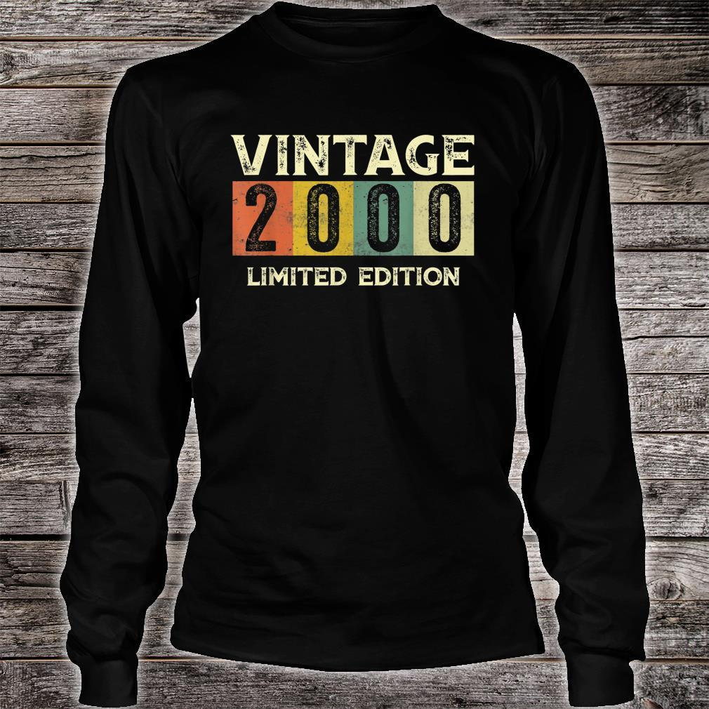 Vintage 2000 Limited Edition 21st Birthday Shirt long sleeved