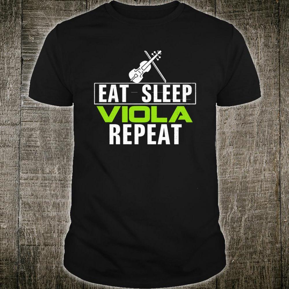 Vintage Eat Sleep Viola Repeat Music Orchestra Shirt
