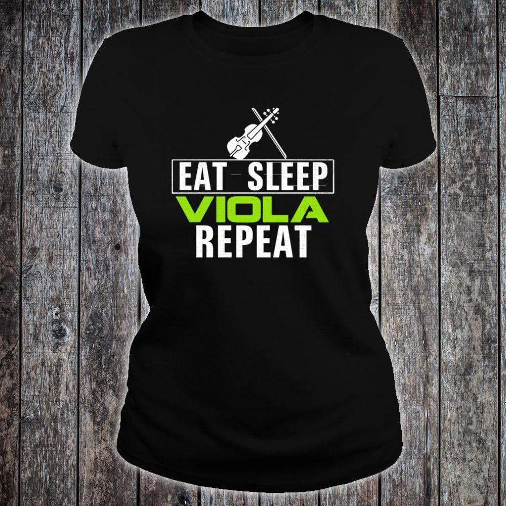 Vintage Eat Sleep Viola Repeat Music Orchestra Shirt ladies tee