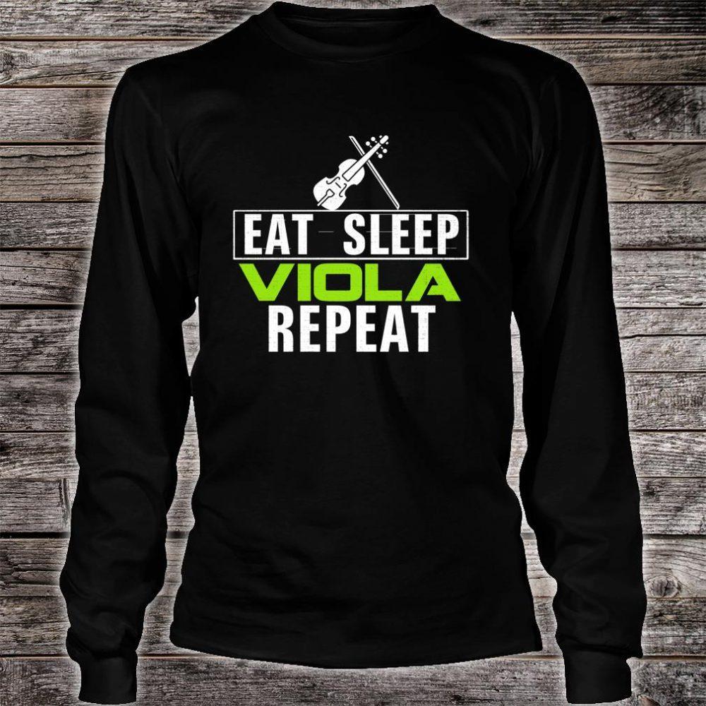 Vintage Eat Sleep Viola Repeat Music Orchestra Shirt long sleeved