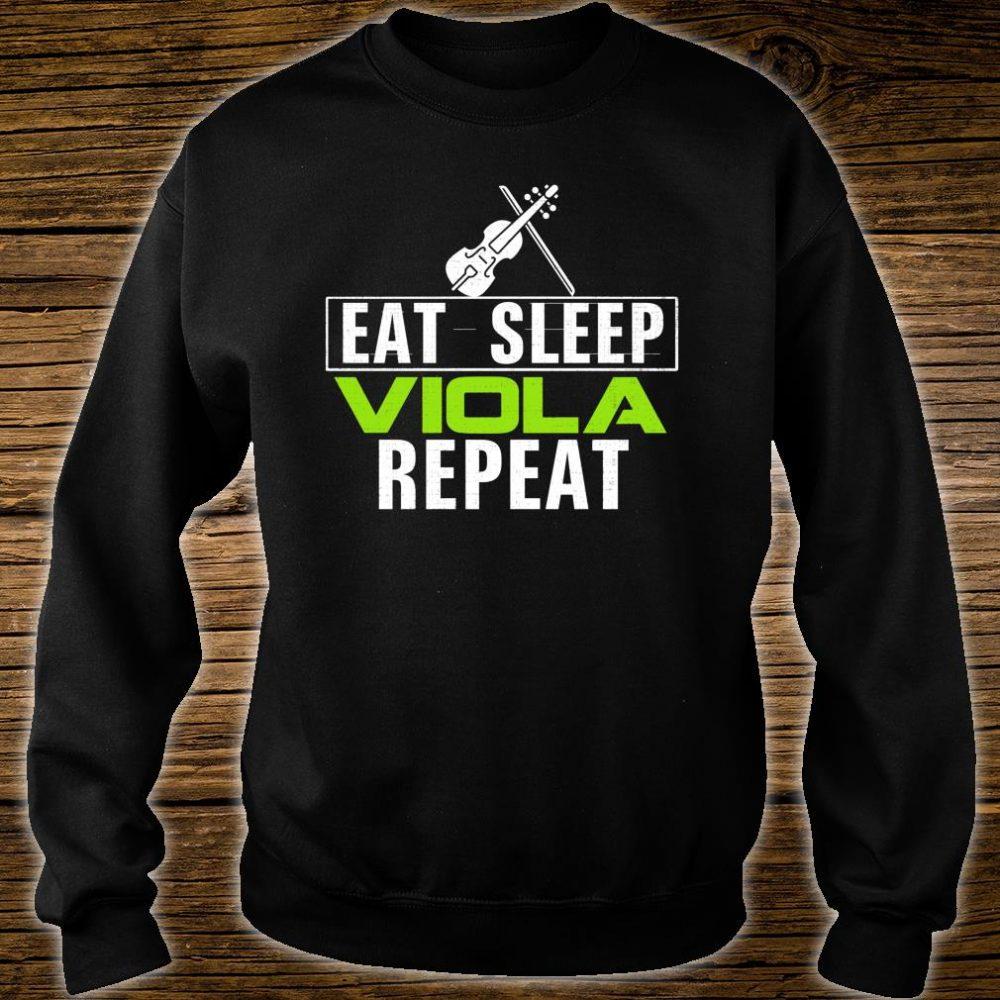 Vintage Eat Sleep Viola Repeat Music Orchestra Shirt sweater