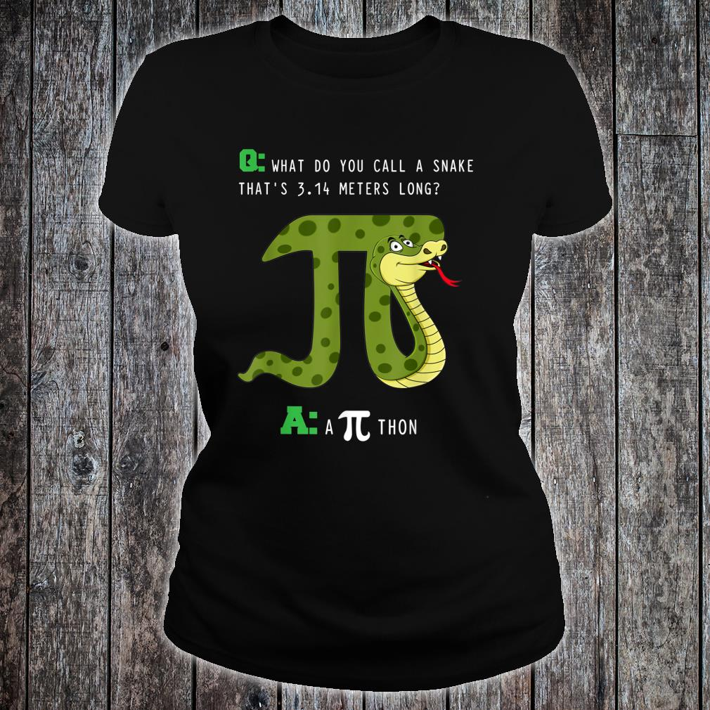 What Do You Call A Snake That's 3.14 Meters Long A Pithon Shirt ladies tee