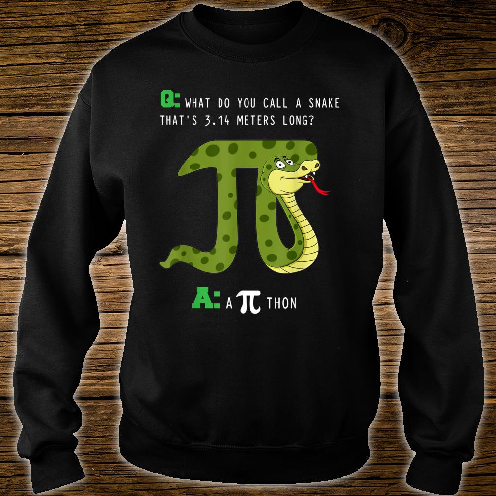 What Do You Call A Snake That's 3.14 Meters Long A Pithon Shirt sweater