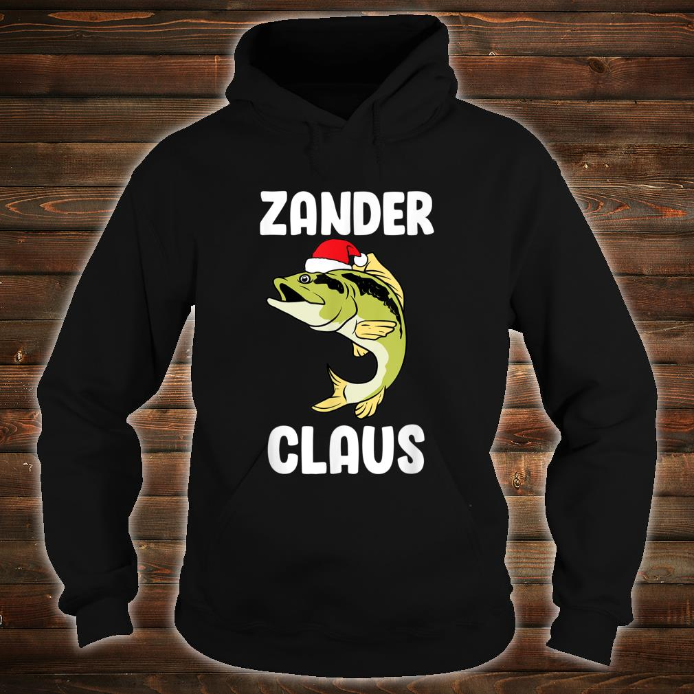 Zander Claus fishing Gift Christmas fish angler Shirt hoodie