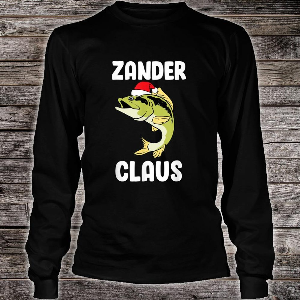 Zander Claus fishing Gift Christmas fish angler Shirt long sleeved