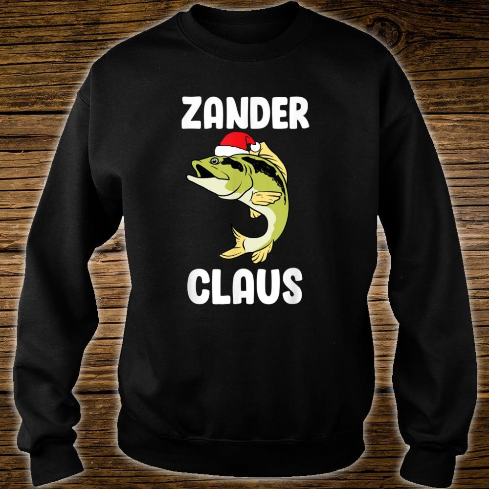 Zander Claus fishing Gift Christmas fish angler Shirt sweater