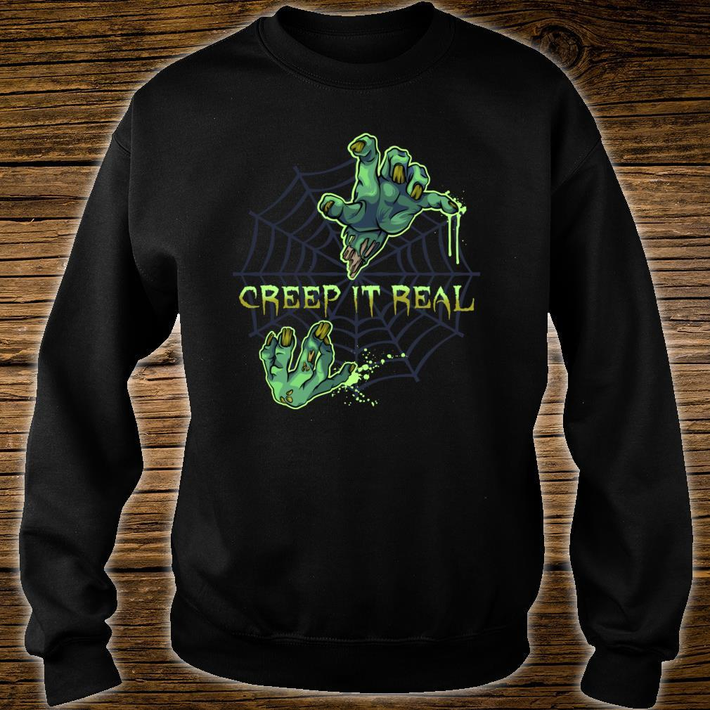 Zombie HandsCreep It Real Halloween Shirt sweater